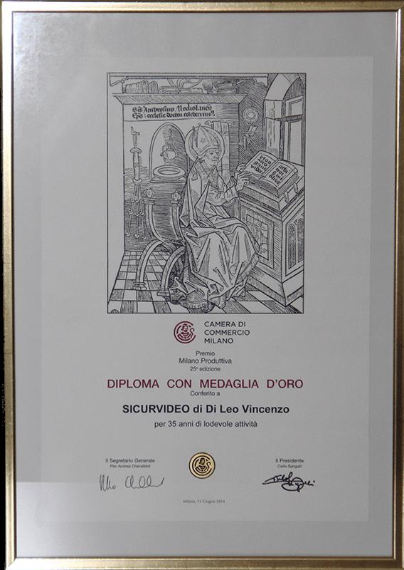 Diploma D'oro - Camera di commercio